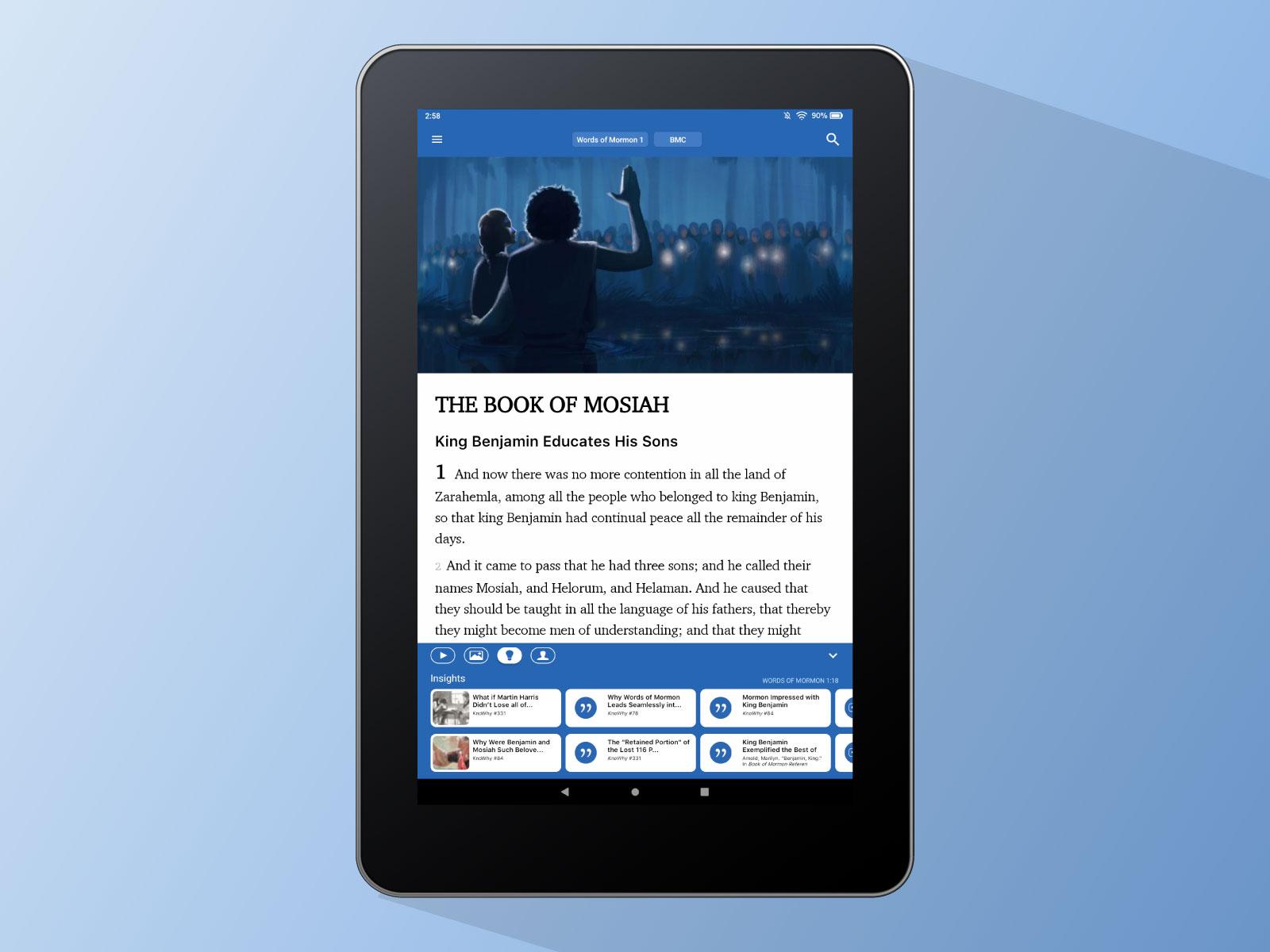 Mosiah 1 in ScripturePlus on Amazon Kindle