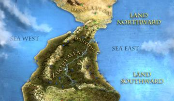 Theoretical map of Book of Mormon lands by Tyler Griffin and the BYU Virtual Scriptures Group