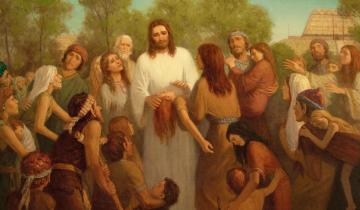 He Healed Them All, Every One, by Gary L. Kapp. Second Place winner of the 2020 Book of Mormon Central Art Contest.