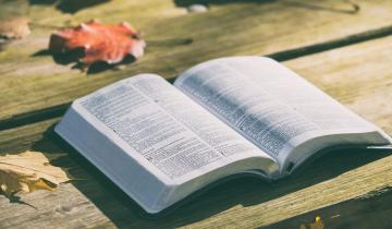 Photo of Bible by Pexels via Pixabay.